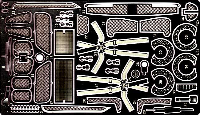 フェラーリ FXX グレードアップパーツエッチング(スタジオ27ツーリングカー/GTカー デティールアップパーツNo.FP24107)商品画像_1