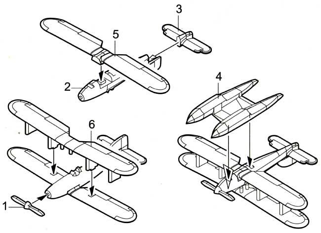 フェアリー 3F (6機入)プラモデル(トランペッター1/350 航空母艦用エアクラフトセットNo.06252)商品画像_1