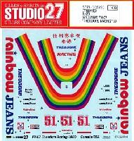スタジオ27F-1 オリジナルデカールウイリアムズ FW07 THEODORE RACING 1980
