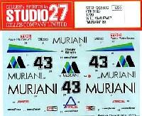 スタジオ27F-1 オリジナルデカールウイリアムズ FW07 MURJANI 1980
