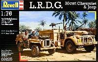 レベル1/76 ミリタリーL.R.D.G. 30cwtシボレー & ジープ