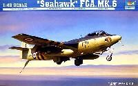 トランペッター1/48 エアクラフト プラモデルホーカー シーホーク FGA. Mk.6