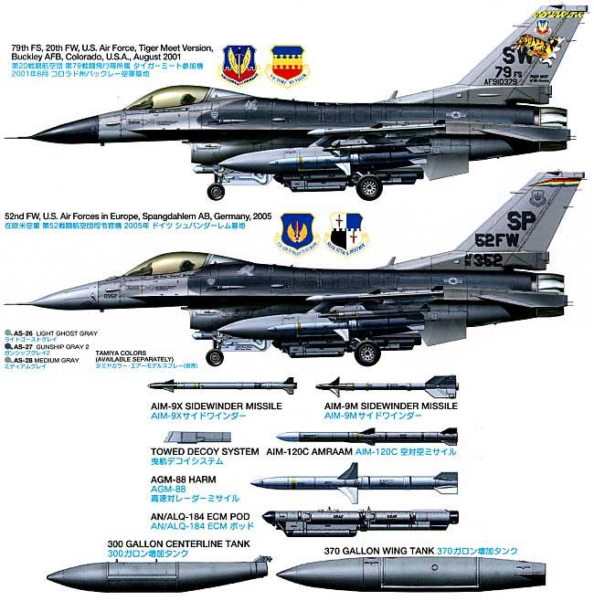 ロッキード マーチン F-16CJ ブロック50 ファイティングファルコンプラモデル(タミヤ1/48 傑作機シリーズNo.098)商品画像_1