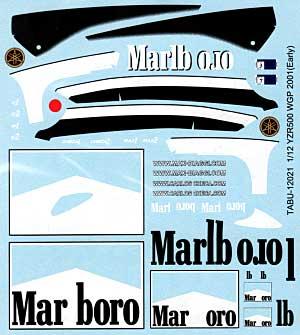 ヤマハ YZR500 WGP 2001 Early ver.デカール(タブデザイン1/12 デカールNo.TABU-12021)商品画像