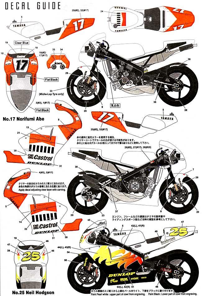 ヤマハ YZR500 WGP '95トランスキット(スタジオ27バイク トランスキットNo.TK1235C)商品画像_2