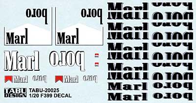 F399 タバコデカールデカール(タブデザイン1/20 デカールNo.TABU-20025)商品画像