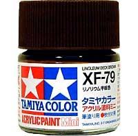 タミヤタミヤカラー アクリル塗料ミニリノリウム甲板色 (XF79)