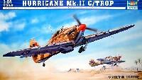 トランペッター1/24 エアクラフトシリーズホーカー ハリケーン Mk.2c / TROP