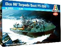 イタレリ1/35 艦船モデルシリーズELCO 80フィート魚雷艇 PT-596 (写真資料集付)