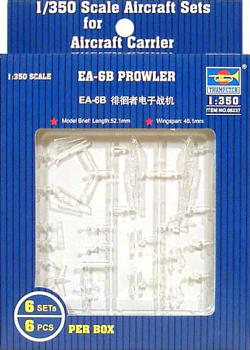 EA-6B プラウラープラモデル(トランペッター1/350 航空母艦用エアクラフトセットNo.06237)商品画像