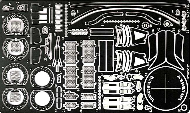 トヨタ SC430 2006 グレードアップパーツエッチング(スタジオ27ツーリングカー/GTカー デティールアップパーツNo.FP24108)商品画像_1