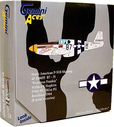 P-51B ムスタング FEROCIOUS FRANKIE完成品(ジェミニ ジェット1/72 ジェミニ エース シリーズNo.GA72005)商品画像