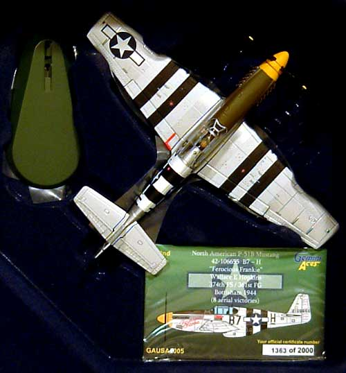 P-51B ムスタング FEROCIOUS FRANKIE完成品(ジェミニ ジェット1/72 ジェミニ エース シリーズNo.GA72005)商品画像_1