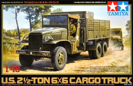アメリカ 2.5トン 6×6 カーゴトラックプラモデル(タミヤ1/48 ミリタリーミニチュアシリーズNo.048)商品画像