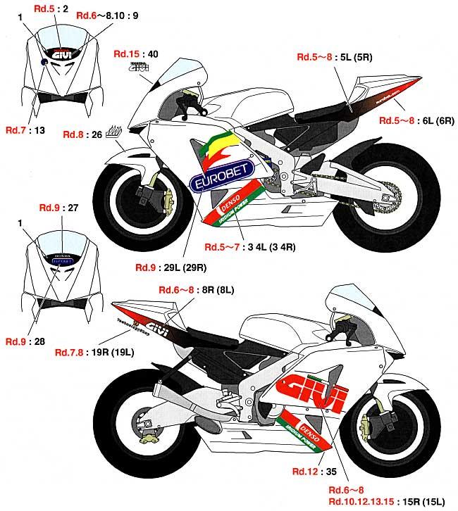 ホンダ LCR RC211V Moto GP 2006 サイドカウルデカールデカール(スタジオ27バイク オリジナルデカールNo.DC748C)商品画像_1