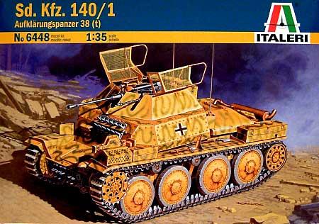 Sd.Kfz.140/1 38(t)偵察戦車プラモデル(イタレリ1/35 ミリタリーシリーズNo.6448)商品画像