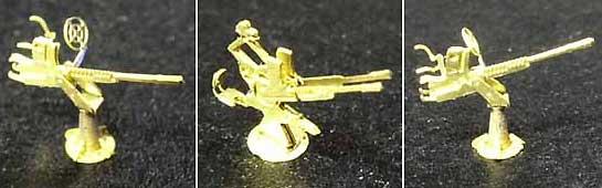 WW2 日本海軍 25mm機銃 (単装)エッチング(ライオンロア1/350 艦船用エッチングパーツNo.LE350008)商品画像_1