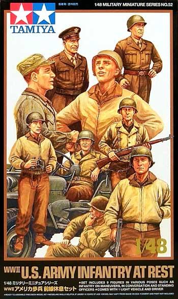 アメリカ歩兵 前線休息セットプラモデル(タミヤ1/48 ミリタリーミニチュアシリーズNo.052)商品画像