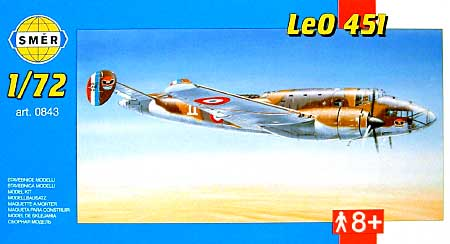 リオ・エ・オリビエ LeO451プラモデル(スメール1/72 エアクラフト プラモデルNo.0843)商品画像