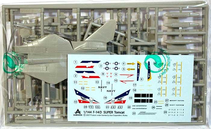 F-14D スーパートムキャットプラモデル(エース コーポレーション1/144 エアクラフトNo.旧1030)商品画像_1
