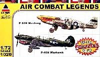 P51B マスタング & P-40N ウォーホーク (2機セット)