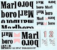 マクラーレン MP4/7対応 Marlboro タバコデカール
