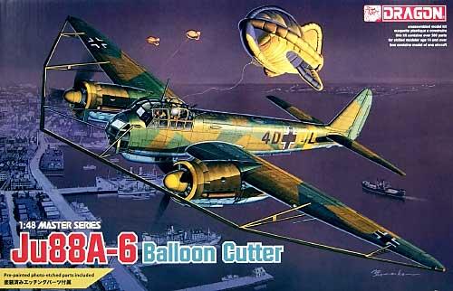 ユンカース Ju88A-6 w/バルーンカッタープラモデル(ドラゴン1/48 Master SeriesNo.5513)商品画像