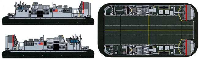 現用アメリカ海軍 エアクッション型揚陸艇 LCAC-1級プラモデル(ピットロードスカイウェーブ D シリーズNo.D-002)商品画像_1