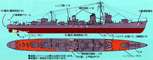 日本海軍 陽炎型駆逐艦 陽炎 (フルハル仕様) ピットロード プラモデル