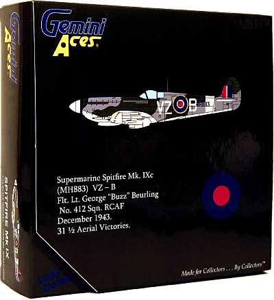 スーパーマリン スピットファイア Mk.9c (MH883) VZ-B ジョージ・バーリング完成品(ジェミニ ジェット1/72 ジェミニ エース シリーズNo.GARAF1006N)商品画像