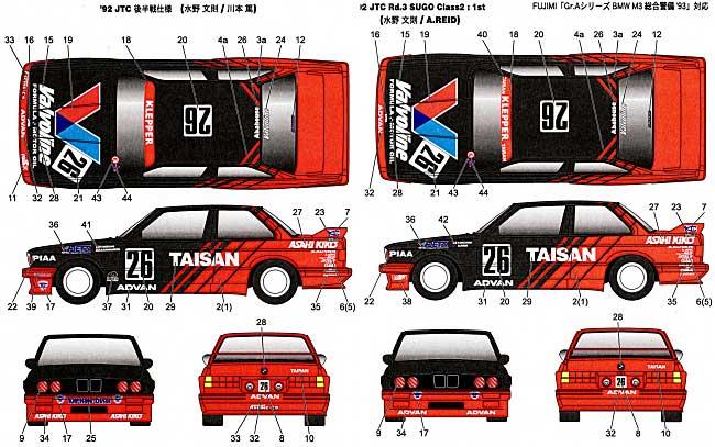 BMW M3 Taisan JTC 1992トランスキット(スタジオ27ツーリングカー/GTカー トランスキットNo.TK2435C)商品画像_1
