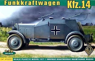 Kfz.14 アドラー無線装甲車プラモデル(エース1/72 ミリタリーNo.72237)商品画像