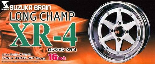ロンシャン XR-4 (16インチ)プラモデル(アオシマ1/24 Sパーツ タイヤ&ホイールNo.094)商品画像