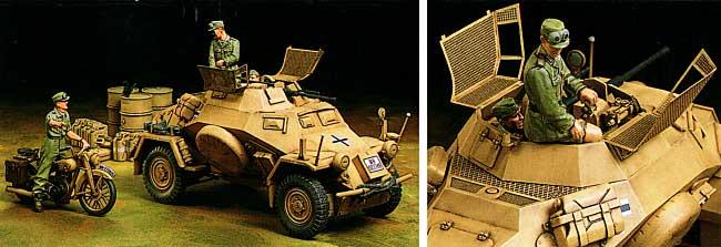 ドイツ 4輪装甲偵察車 Sd.Kfz.222 北アフリカ戦線プラモデル(タミヤ1/35 ミリタリーミニチュアシリーズNo.286)商品画像_1