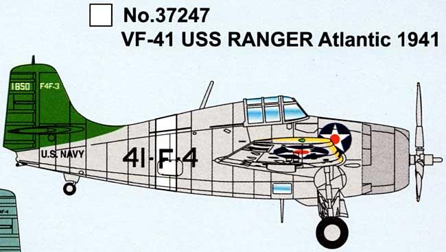 F4F ワイルドキャット VF-41 USS レンジャー アトランティック 1941完成品(イージーモデル1/72 エアキット(塗装済完成品)No.37247)商品画像_1