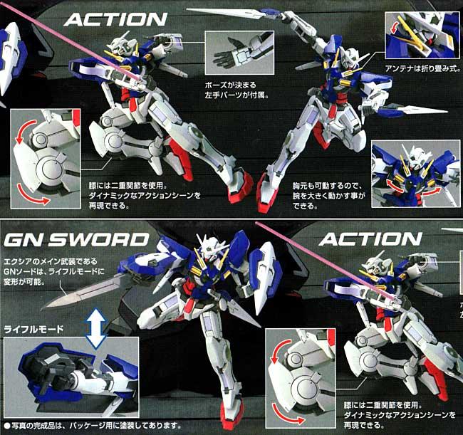 GN-001 ガンダム エクシアプラモデル(バンダイHG ガンダム00No.001)商品画像_1