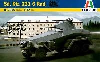 イタレリ1/72 ミリタリーシリーズSd.Kfz.231 6輪装甲車