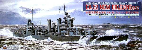 WW2 米海軍ニューオリンズ級重巡洋艦 CA-32 ニューオリンズ 1942プラモデル(ピットロード1/700 スカイウェーブ W シリーズNo.W113)商品画像