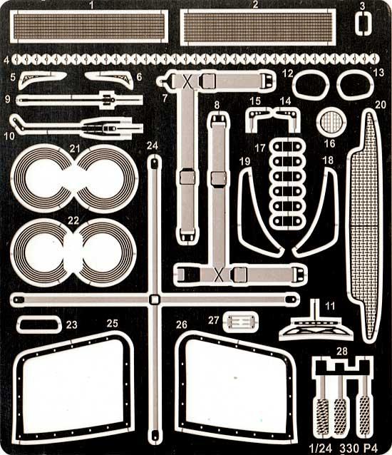 フェラーリ 330P4 グレードアップパーツエッチング(スタジオ27ツーリングカー/GTカー デティールアップパーツNo.FP24115)商品画像_1