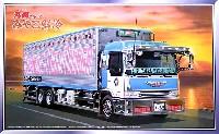 アオシマ1/32 大型デコトラ丸美グループ みやこ鮮冷 (ロングシャーシ保冷車)