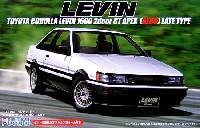 フジミ1/24 インチアップシリーズ (スポット)トヨタ カローラ レビン 1600 2ドア GT APEX 後期型 (AE86) 純正ホイール付き
