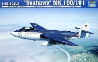 トランペッター1/48 エアクラフト プラモデルホーカーシーホーク Mk.100/101