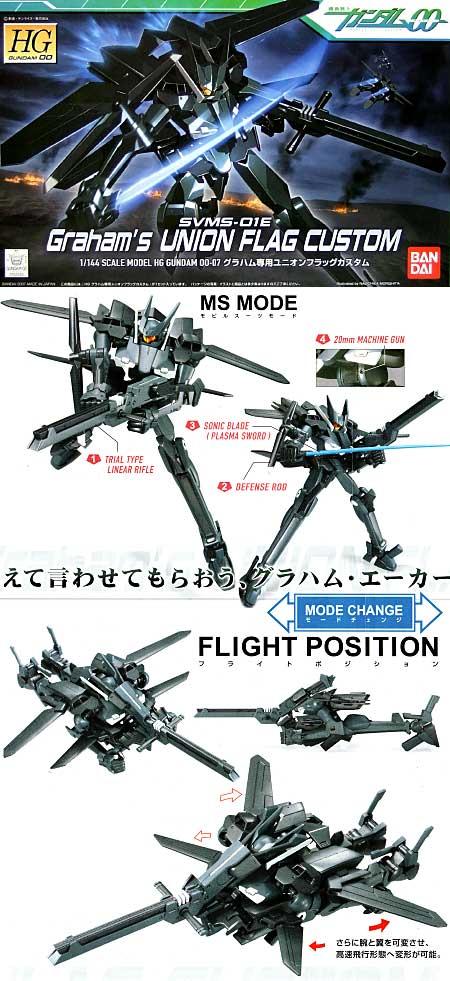 SVMS-01E グラハム専用 ユニオンフラッグ カスタムプラモデル(バンダイ1/144 HG ガンダム 00 シリーズNo.007)商品画像