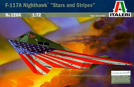 ロッキード F-117A ナイトホーク 星条旗プラモデル(イタレリ1/72 航空機シリーズNo.1264)商品画像