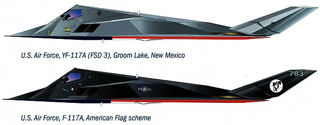 ロッキード F-117A ナイトホーク 星条旗プラモデル(イタレリ1/72 航空機シリーズNo.1264)商品画像_1