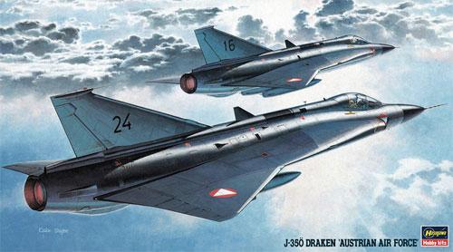 J-35O ドラケン オーストリア空軍プラモデル(ハセガワ1/72 飛行機 BPシリーズNo.BP02)商品画像