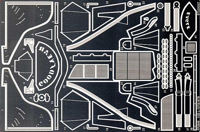 ロータス 107 & 107B(C) グレードアップパーツエッチング(スタジオ27F-1 ディテールアップパーツNo.FP2048)商品画像_1