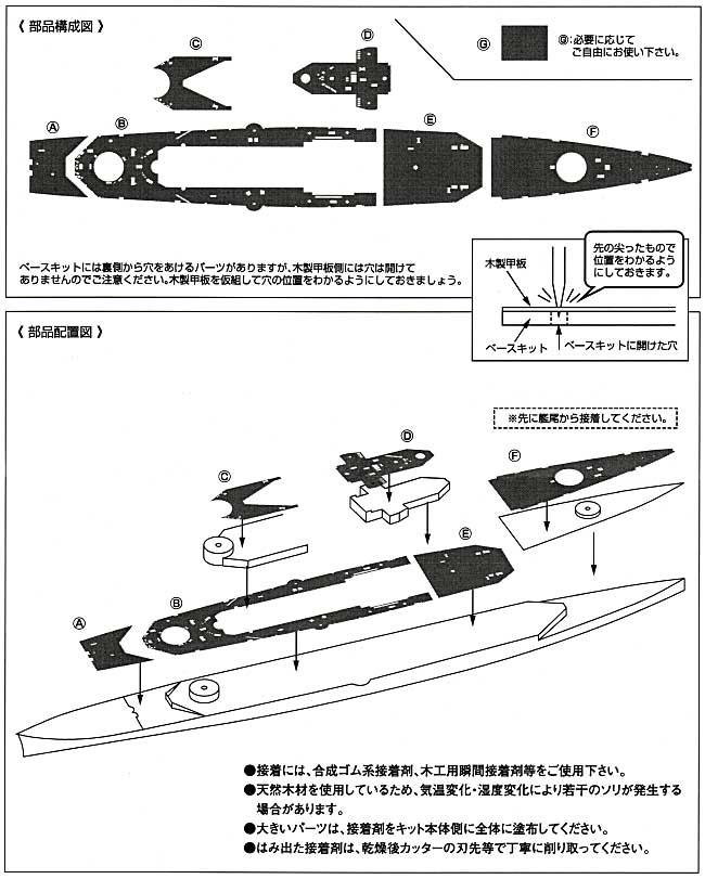 巡洋戦艦 レパルス用 木製甲板セット (1/700スケール)甲板シート(新撰組マイスタークロニクル パーツNo.MCP010)商品画像_2