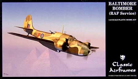 マーチン 187 バルチモア 英空軍プラモデル(クラシックエアフレーム1/48 ミリタリーエアクラフト プラモデルNo.4139)商品画像
