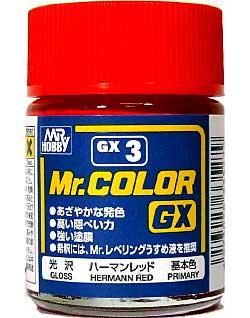 ハーマンレッド (光沢)塗料(GSIクレオスMr.カラー GXNo.GX-003)商品画像